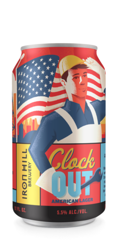 Clock Out American Lager Can